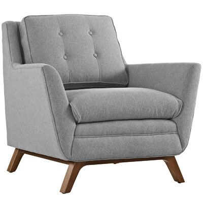 George Oliver Binder Armchair Upholstery: Expectation Gray