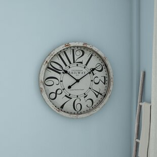 White Wood Wall Clock