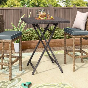 bar height patio tables you ll love wayfair rh wayfair com pub height patio table cover High Top Patio Table and Chairs