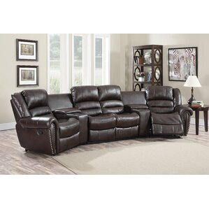 Abbie Home Theater Recliner (Row of 4) by Wi..