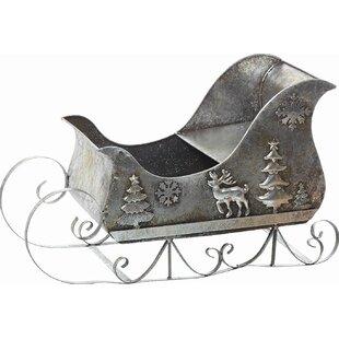 small metal christmas sleigh