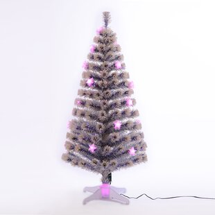 5 bluewhite spruce trees artificial christmas tree with 20 led multi colored lights with stand