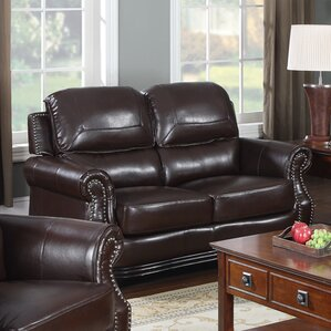 Swain Bonded Leather Loveseat by Flair