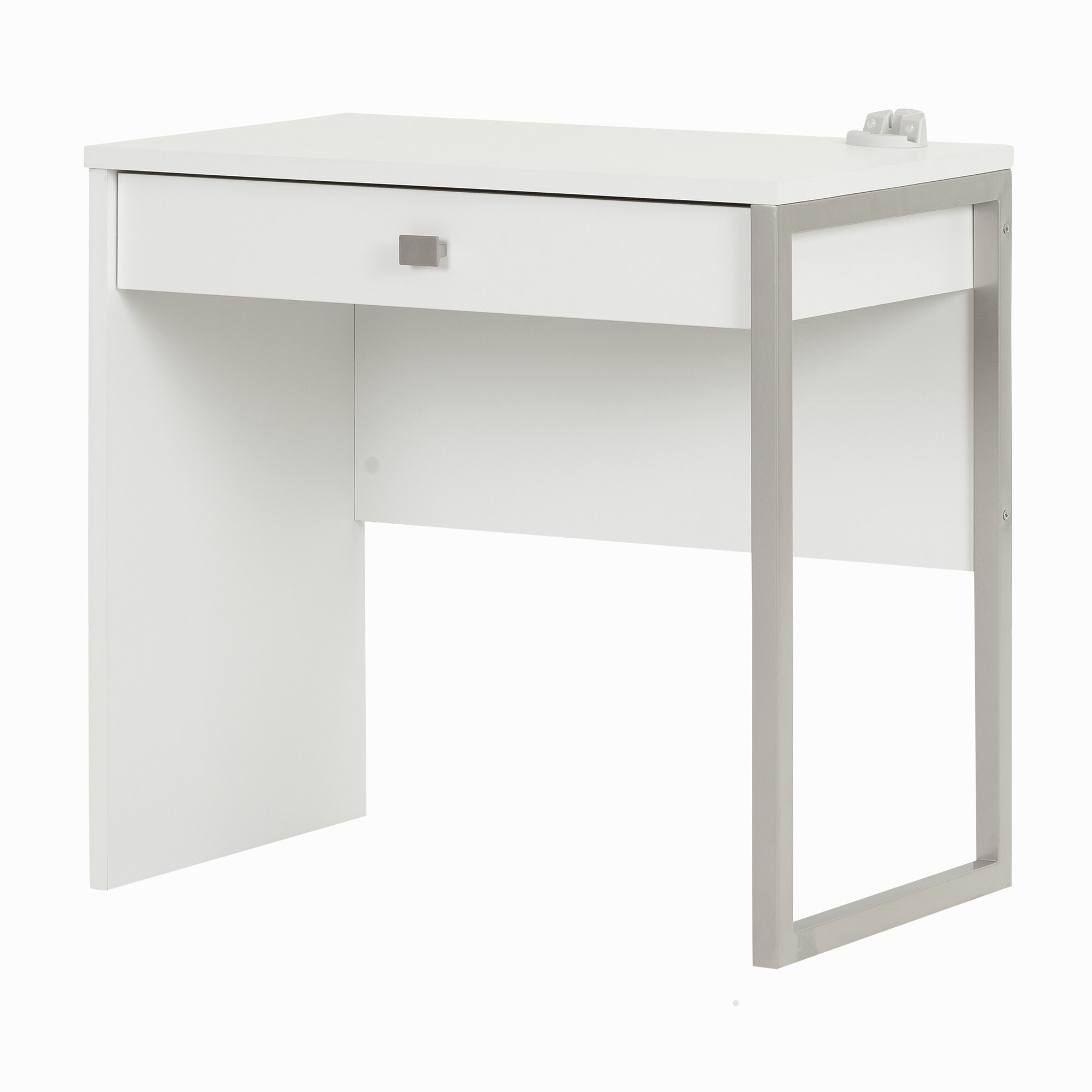 white drawer drawers sauder harbor with desk products writing view computer