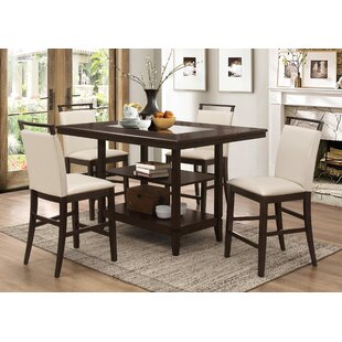 Charming Winchester 5 Piece Counter Height Dining Set