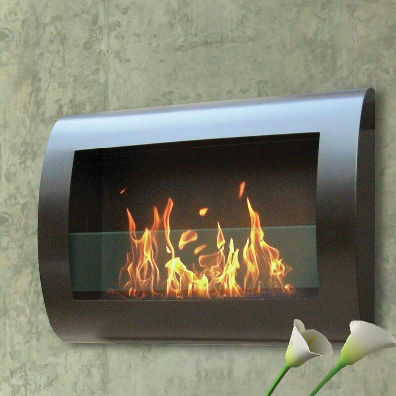 Crafton Wall Mounted Bio Ethanol Fireplace Reviews Allmodern
