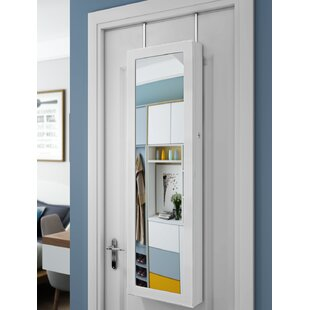 LED Over The Door Jewellery Armoire With Mirror