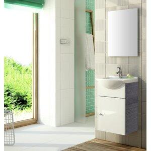 Zoll 46 cm Wandmontierter Waschtisch Nassau mit Spiegel