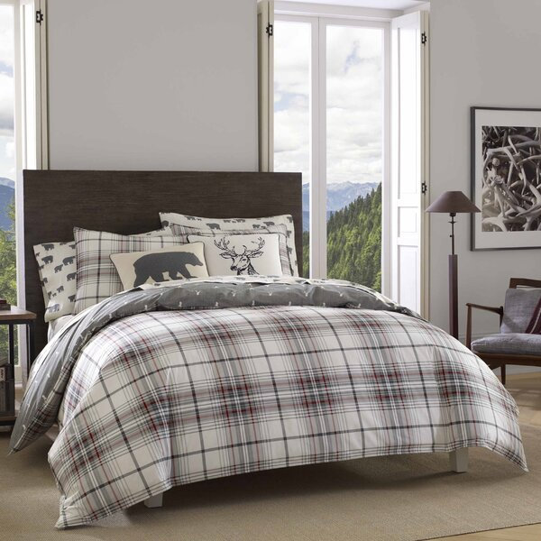 Eddie Bauer Alder Plaid 100 Cotton Duvet Cover Set