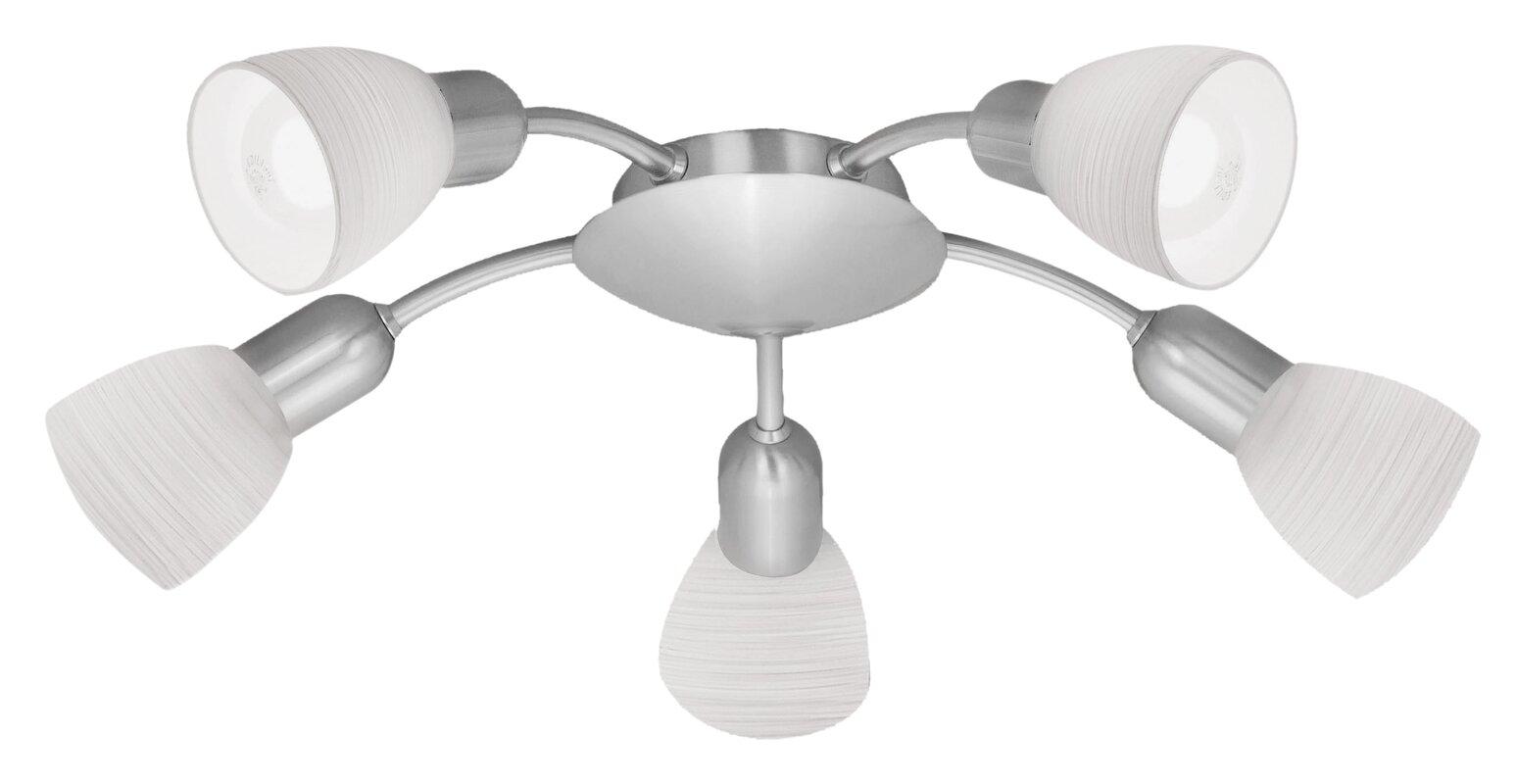 clementine 5light semi flush ceiling light