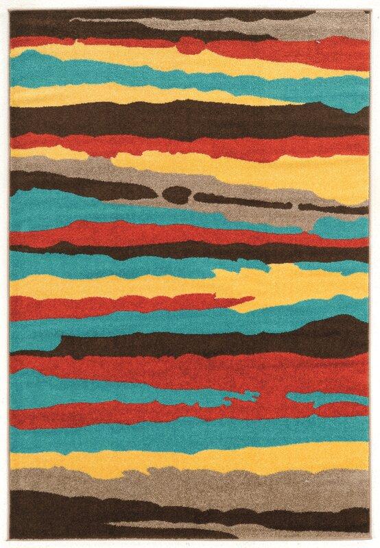 Williston Forge Thorton Turquoise Area Rug Reviews Wayfair