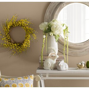 Faux Forsythia Wreath