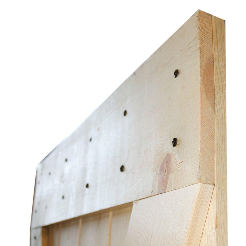 Solid Room Divider Wood Slab Interior Barn Door  sc 1 st  Wayfair & Calhome Solid Room Divider Wood Slab Interior Barn Door \u0026 Reviews ...