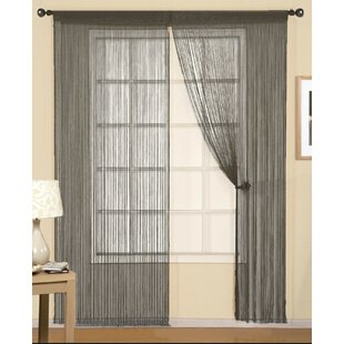 Avia String Solid Sheer Rod Pocket Single Curtain Panel  sc 1 st  Wayfair & Door String Curtain | Wayfair