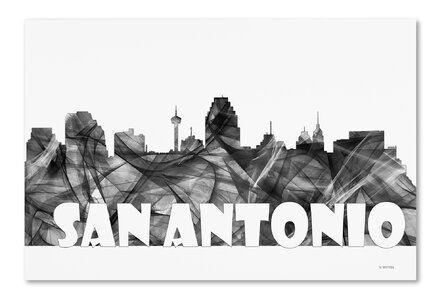Trademark Art San Antonio Texas Skyline Bg 2 Graphic Art