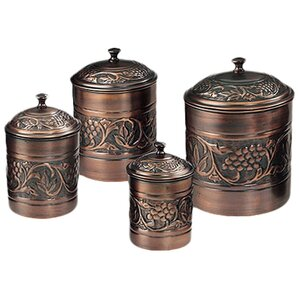 Heritage 4 Piece Kitchen Canister Set