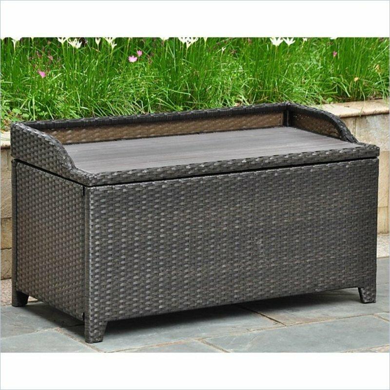Katzer Brescia U0026 Aluminum Resin Storage Bench
