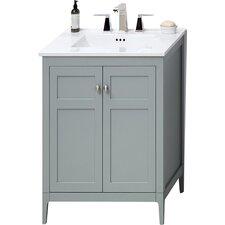 """Briella 24"""" Bathroom Vanity Cabinet Base in Ocean Gray"""