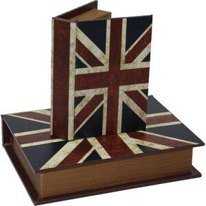 2-tlg. Aufbewahrungsboxen-Set Union Jack von PM ..