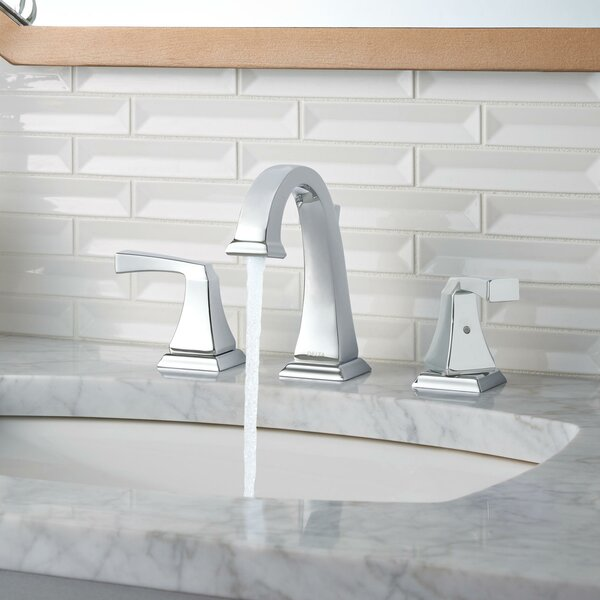 faucets bathroom. Delta Dryden  Deck Mounted Double Handle Bathroom Faucet with Drain Assembly and Diamond Seal Technology Reviews Wayfair