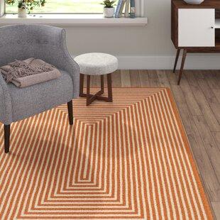 Orange Indoor/Outdoor Area Rug by Home Loft Concept