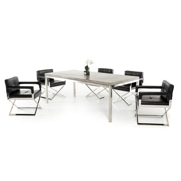 Clower Modern Concrete Dining Table