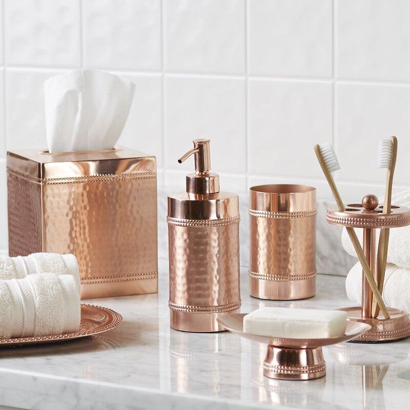 birch lane hammered copper bathroom accessory tray reviews birch lane