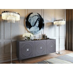 Trish Lacquer Buffet Table by Everly Quinn