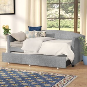 Alvina Upholstered Daybed with Trundle by Andover Mills