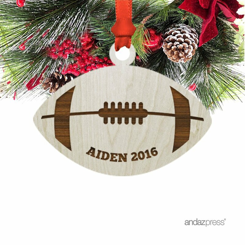 Rugby Ball Shaped Ornament with Gift Bag - The Holiday Aisle Rugby Ball Shaped Ornament With Gift Bag Wayfair