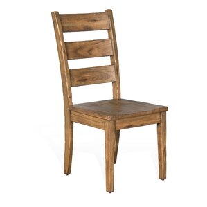 Joliette Dry Leaf Ladderback Solid Wood Dining Chair by Loon Peak