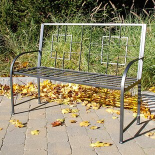 Square On Squares Entryway Wrought Iron Garden Bench