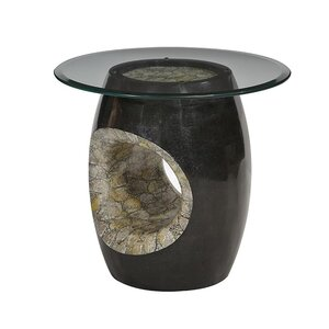 Discoveries Round Glass End Table