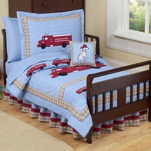Frankie S Firetruck 5 Piece Toddler Bedding Set