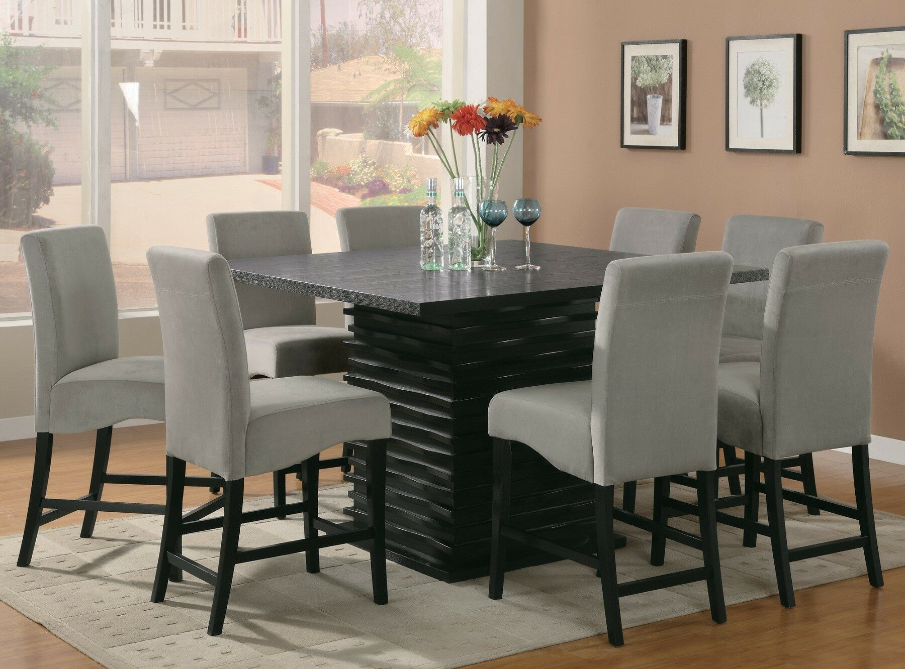 Orren Ellis Annapolis 9 Piece Counter Height Dining Set Reviews