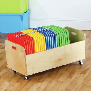 Square 32 Piece Kids Floor Cushion and Tuf Cart Set by KaloKids