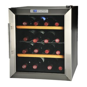 16 Bottle Single Zone Freestanding Wine Cooler by Kalorik