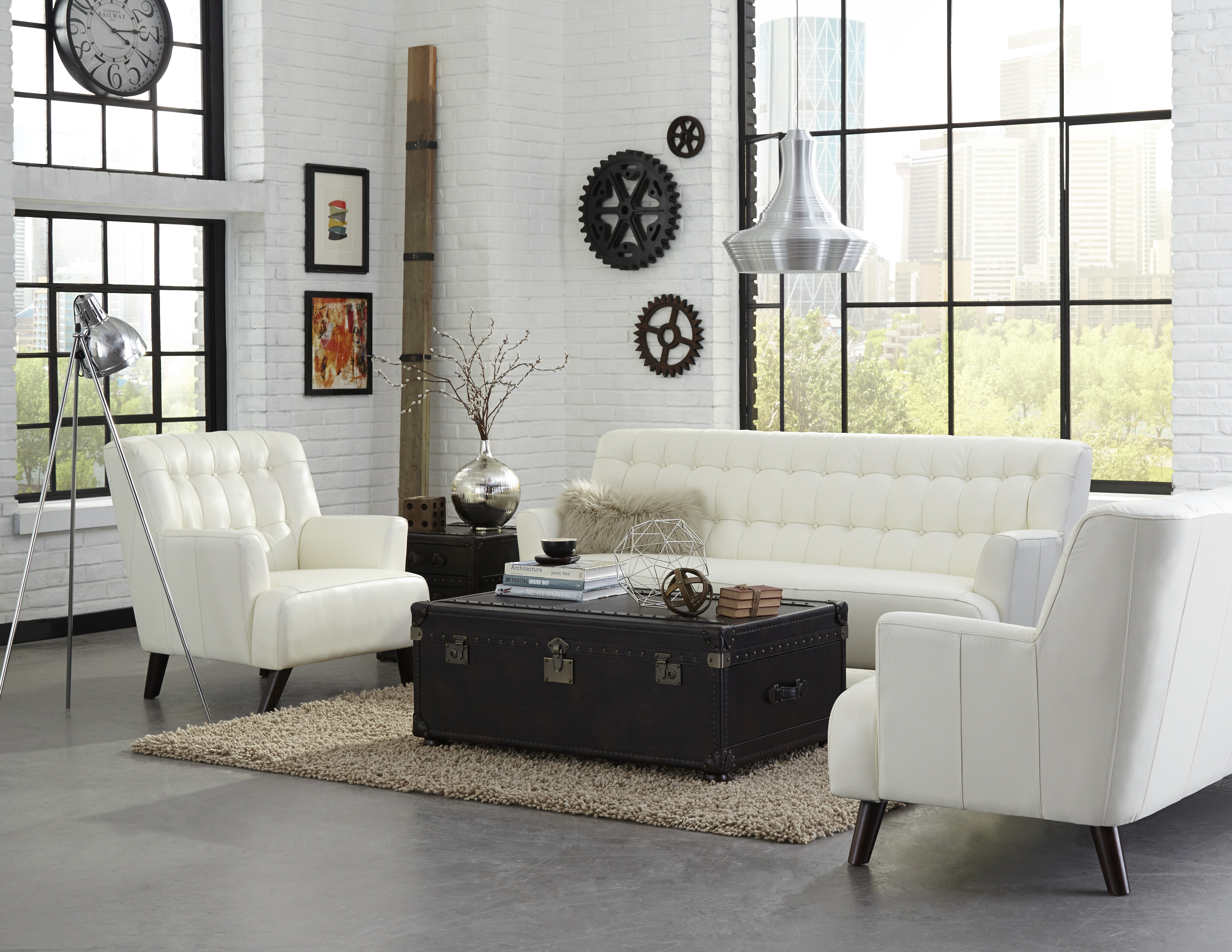 Lazzaro Leather New York Configurable Living Room Set | Wayfair
