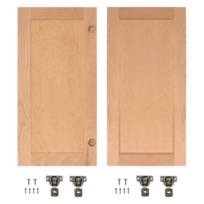 Invisidoor Solid Wood Panelled Cherry Slab Interior Door Wayfair