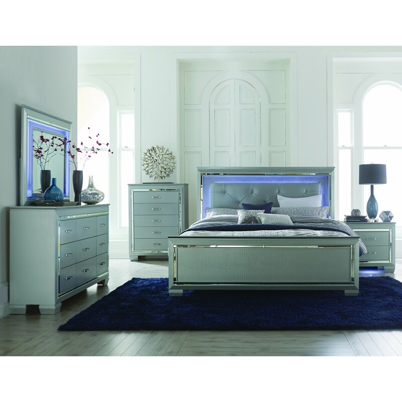 House of Hampton Boden 9 Drawer Dresser with Mirror & Reviews | Wayfair
