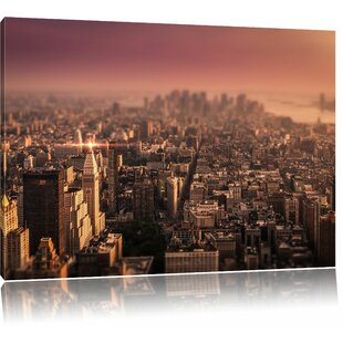 New York City At Sunset Wall Art On Canvas