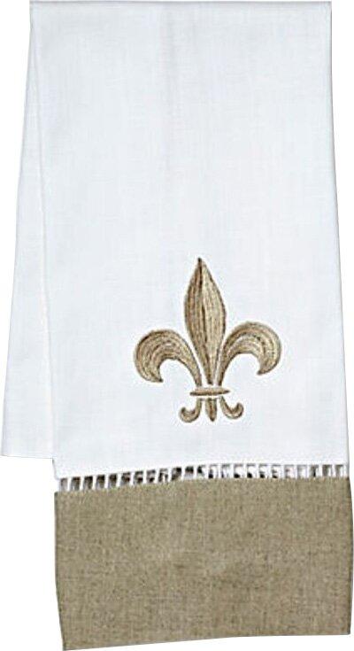 Jacaranda Living Fleur De Lis Linen Hand Towel Wayfair