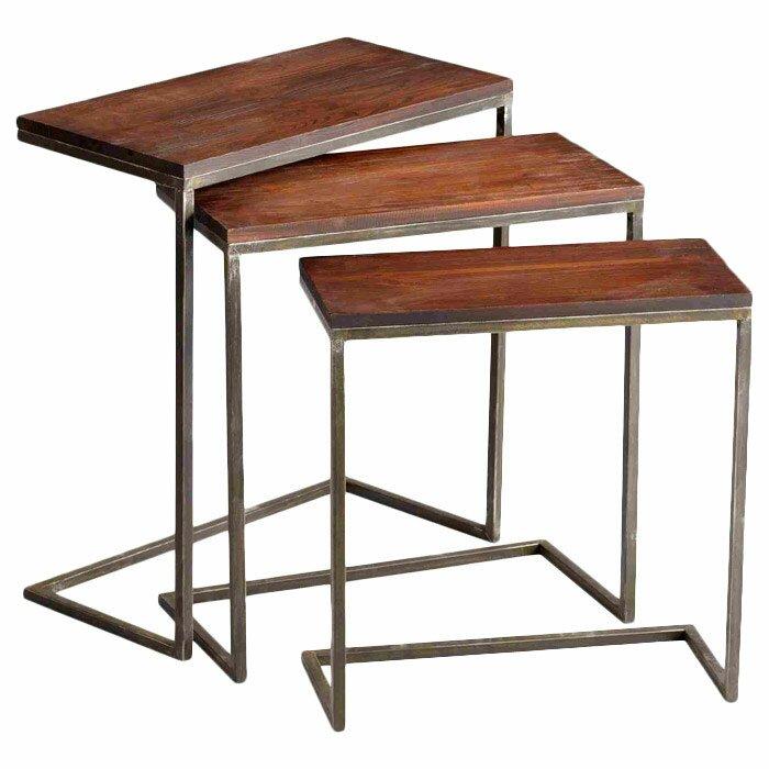 Nesting Tables cyan design jules 3 piece nesting tables & reviews | wayfair