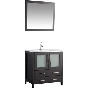 holley 30 single bathroom vanity set with mirror