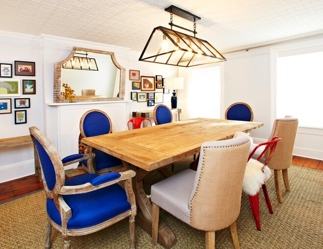 Dining Room With Mixed Chairs