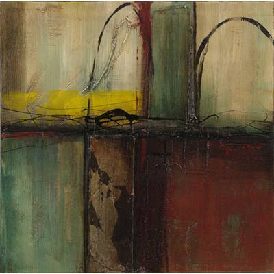 64471869073  Modern Abstract  2 Piece Oil Painting Print Set on Wrapped Canvas (Set of 2 )