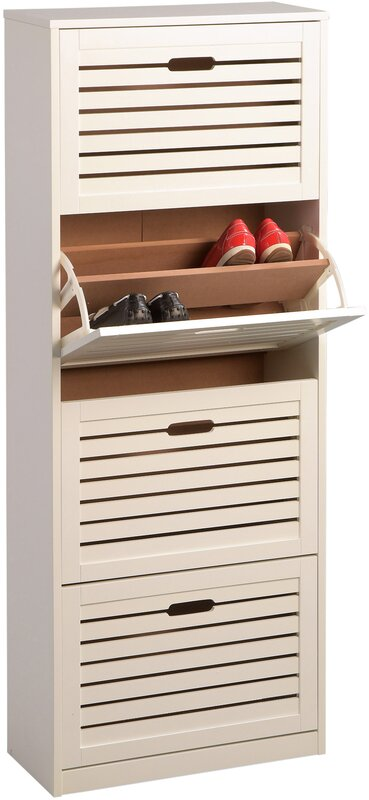 Hometrends4you marcy 3 shoe cabinet reviews for Schuhschrank flap