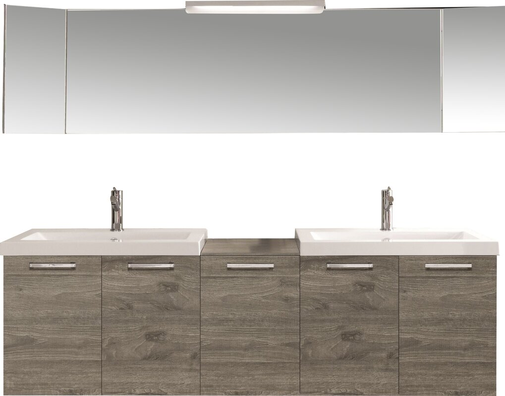 double modern bathroom vanity setreviews  allmodern