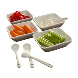Shallow Appetizer 8 Piece Dish Set