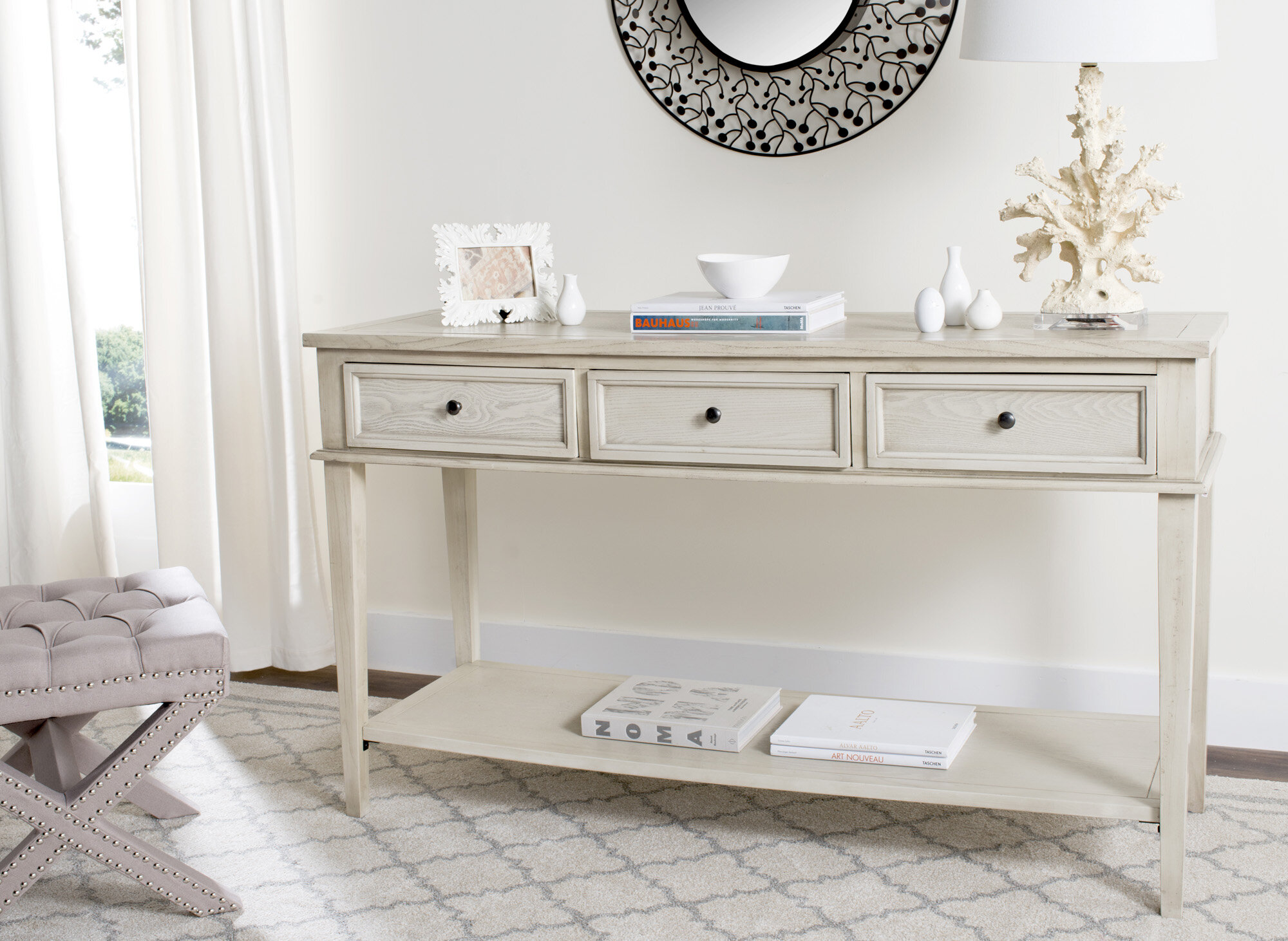 Rosecliff Heights Yelena Modern Console Table Reviews Wayfair